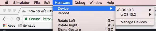 Cài đặt nhiều phiên bản OSX trên Simulator Mac Sierra