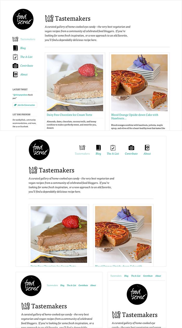 FoodSense là một website đẹp có thể hiển thị tốt trên tất cả khung hình thiết bị di động lẫn desktop.