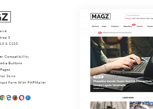Giao diện HTML5 miễn phí - Magz