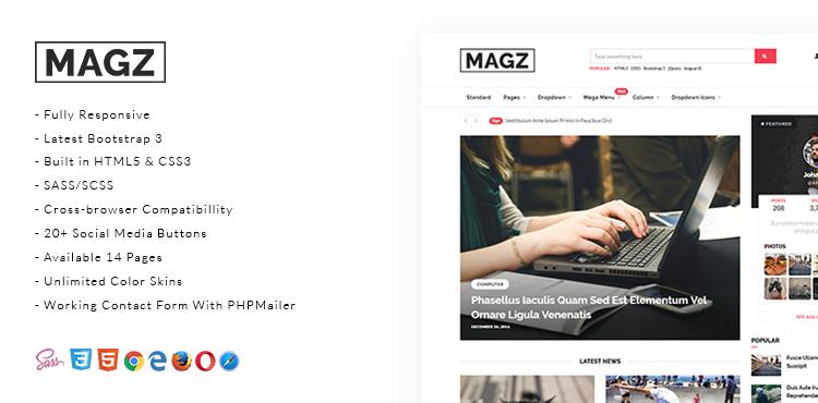 Giao diện HTML5 miễn phí – Magz