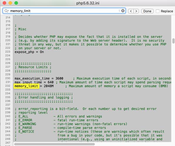Tìm và sửa thiết lập trong PHP.INI