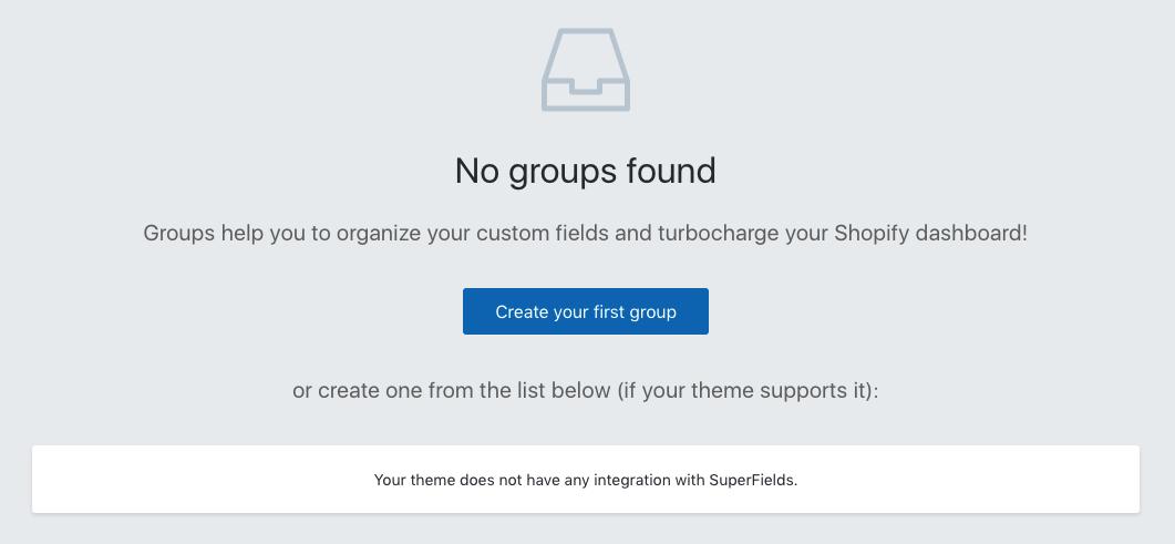 Thông báo yêu cầu tạo Group trước của Superfields