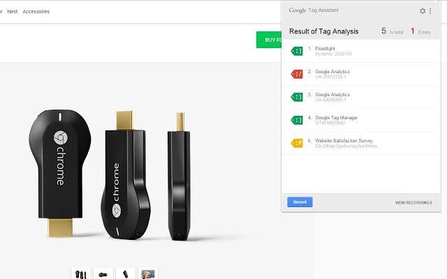 Sử dụng Chrome extension Tag Assistant trên Chrome