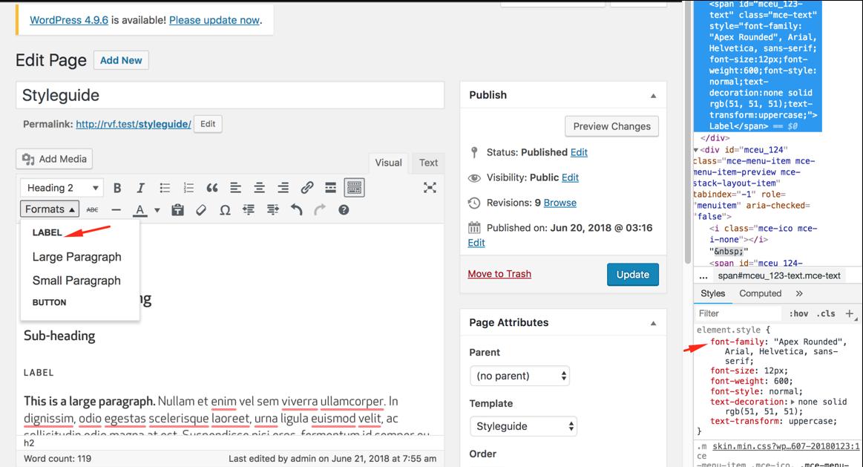 Debug không thấy font-face hoạt động trong backend TinyMCE WordPress