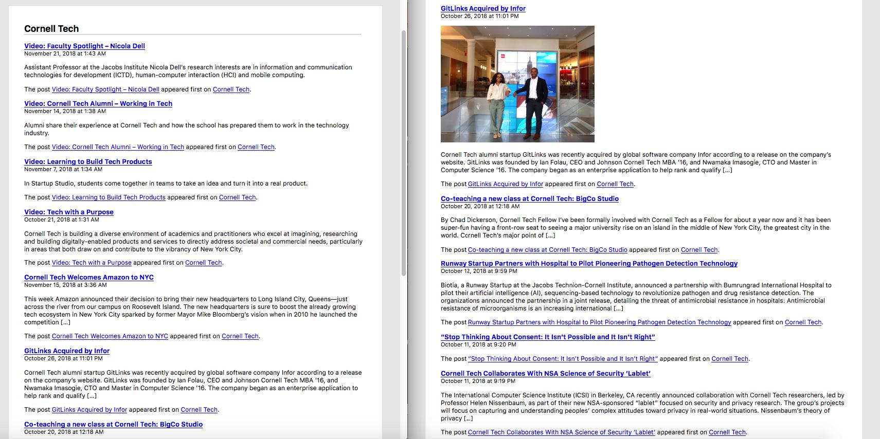 Ảnh so sánh trước vào sau khi thêm ảnh thumbnail vào RSS Feed WordPress