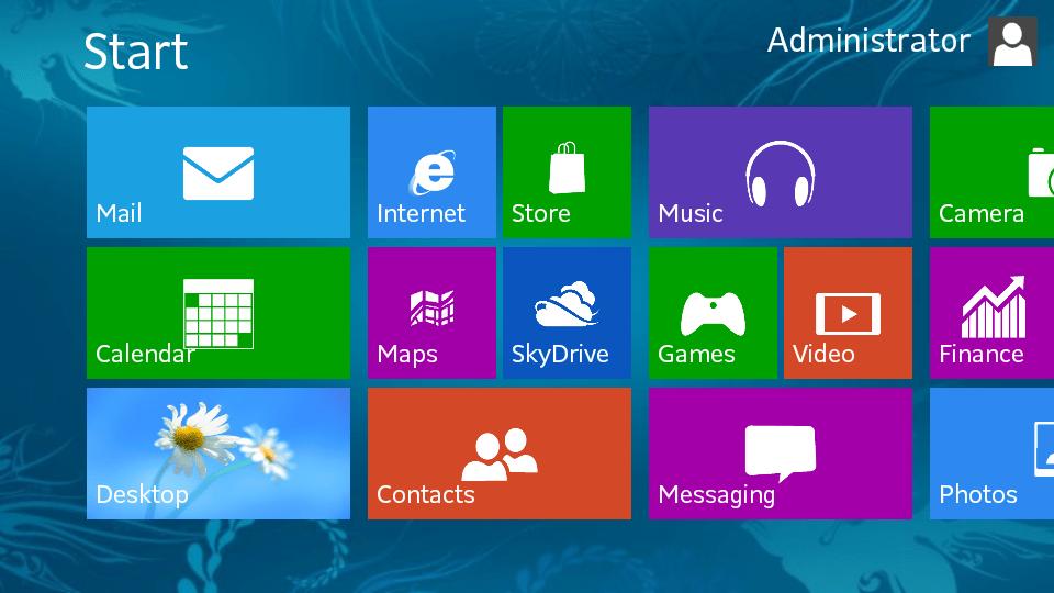 Phong cách Flat design trong Windows 8