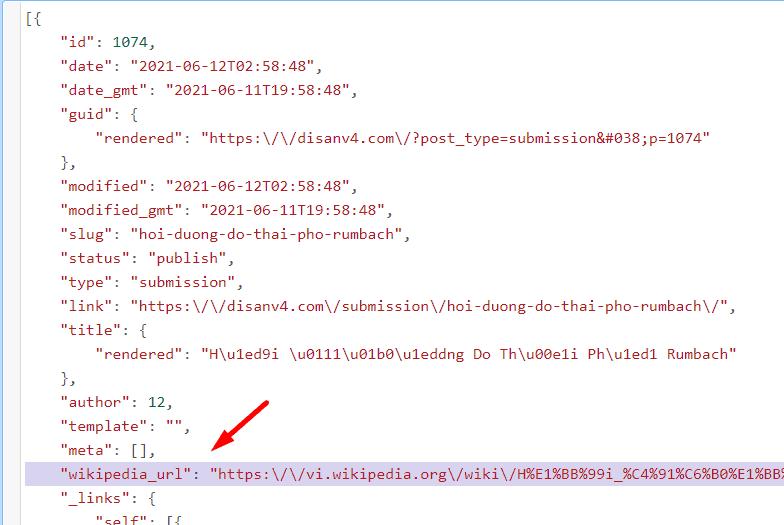 Đọc REST API và thêm giá trị key